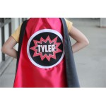Fast Delivery - Custom POW Design Cape - Full NAME Personalized SUPERHERO Cape - Includes full name in burst design - 6 color options