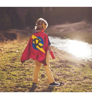 Super FAST DELIVERY - Kid Costumes - PERSONALIZED Kids Superhero Cape - Choose the Initial - Super hero party cape