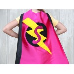 Girls SPARKLE INITIAL SUPERHERO Cape - Fast Shipping - Ready for Christmas - Lots of choices - Kids Costumes