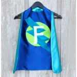 Holiday Sale - Fast Shipping - Kid Costumes - PERSONALIZED Kids Superhero Cape - Choose the Initial - Super hero party cape