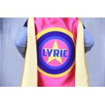 Girls FULL NAME Star SUPERHERO Cape - Full Name - Personalized hero cape - Fast Delivery - Kid costumes - Halloween ready