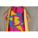 Free mask sale - Customized Sparkle SUPERHERO CAPE - Custom Initial Hero Cape - Choose colors - Kids Costume - Ships Fast - Superhero Party