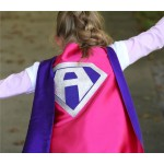 Fast delivery - Custom Girls Halloween Superhero Costume Cape - Sparkle PERSONALIZED GIRL SUPERHERO Cape - Custom Initial - 8 color choices