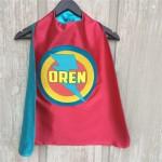 Boys PERSONALIZED SUPERHERO CAPE - Customized Full Name Cape - Superhero Party - Hero gift - Ships fast - Easter Ready