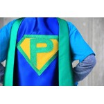 Custom Kids Costume - Customized Shield Superhero Cape with Personalized INITIAL - Girl Superhero Party - EASTER READY