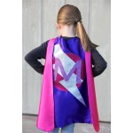 FAST SHIP GIRLS Personalized Sparkle Superhero Cape with custom initial - High quality sparkle design - girl birthday gift