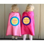 Ships Fast - SIBLING GIFT - Super Girl Superhero Cape - Big sister gift - new baby - Opition to add custom name - New Baby Gift