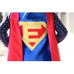 Free mask sale - Personalized SUPERHERO CAPE Custom Gold Shield - Fast Delivery - Personalized Initial - Kids Superhero Party