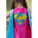 Easter Ready - PERSONALIZED Girl Birthday Gift - Sparkle SUPERHERO CAPE - Customize with your childs initial - Kid Costume