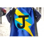 Fast shipping - Our best selling Kids SUPERHERO Cape Personalized double sided cape - Any Initial - Boy Birthday Gift