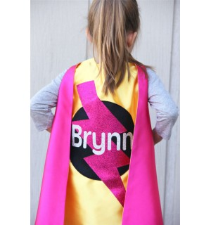 SPARKLE FULL NAME Personalized Sparkle Superhero Cape - High quality sparkle design - fast shipping - girl birthday gift