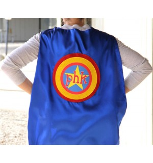 Personalized Adult SUPERHERO Cape - Customized with your Business name or Organization - Ships Fast - Super Hero Capes for Men and Women