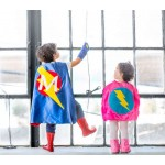 Easy kids Costume - Childrens Customized Superhero Cape - Lots of colors - Personalized cape with initial - kid costumes - superhero party