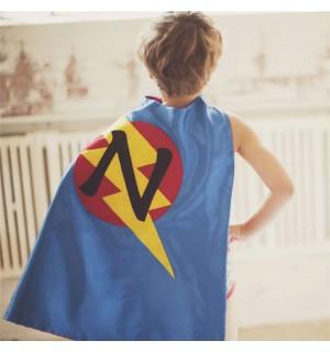 Super FAST DELIVERY - PERSONALIZED Boys Superhero Cape - Choose the Initial - Super hero party cape