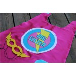 Big Sister SUPERHERO Cape Set - Includes Free MASK - Big sister gift - sibling gift - Fast delivery
