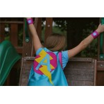 GIRLS Superhero Personalized with your childs initial - CUSTOMIZED Cape - Personalized girl birthday gift - Kid gift pretend play costume