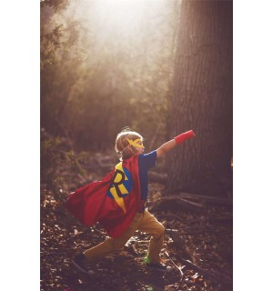Super FAST DELIVERY - PERSONALIZED Boys Superhero Cape - Choose the Initial - Super hero party cape - 20 color combinations