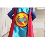 Easter Ready - Kis Superhero Costume - PERSONALIZED SUPERHERO Party CAPE with Full Name - Customized boy birthday present
