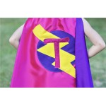 Halloween Ready - GIRLS Superhero Personalized with your childs initial - CUSTOMIZED Cape - Personalized girl birthday gift - Kid gift