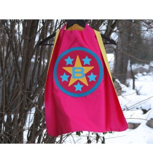 New - Girls PERSONALIZED SUPERHERO Cape - Customized with your childs INITIAL - Customized Gifts for Kids - Personalized Presents