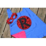 PERSONALIZED SPIDERMAN CAPE and Spider Hero Mask Set - Includes customized hero cape plus coordinating mask