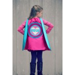 Girls Custom Heart SUPERHERO CAPE with Full Name - Personalized Easter Gift - Ships Fast
